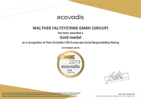 Gold Medal by EcoVadis