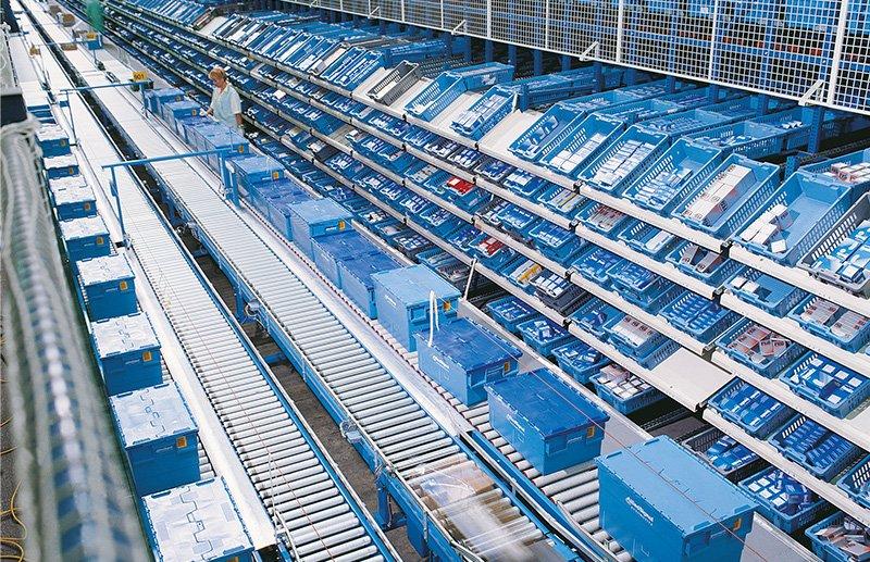 Kunststoffbehälter, Logistikablauf