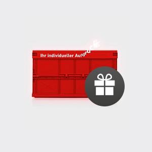 Geschenkt: individualisierte Box