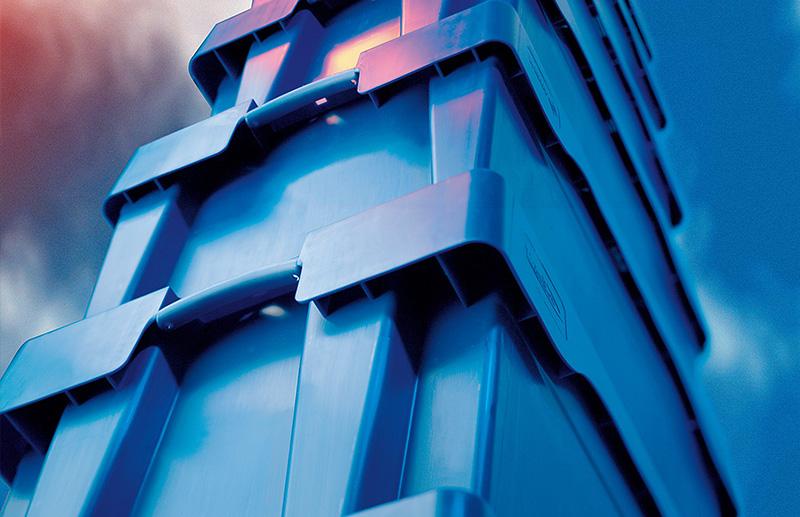 Transportkisten, blau